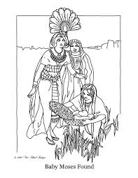 Moses And The Exodus Coloring Pages Throughout