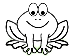Tree Frog Clipart Black And White