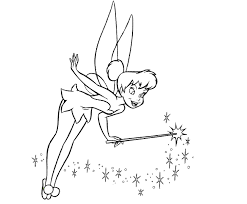 Tinkerbell Coloring Pages Peter Pan