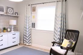 Grey And White Chevron Curtains by Ombre Chevron Curtains In Boys Nursery