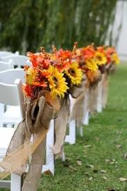 Country Aisle Decorations For Our October Wedding