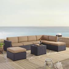 Biscayne 7 Person Outdoor Wicker Seating Set In Mocha - Two Loveseats, One  Armless Chair, Coffee Table, Two Ottomans By Crosley Outdoor Wicker Chairs Table Cosco Malmo 4piece Brown Resin Patio Cversation Set With Blue Cushions Panama Pecan Alinum And 4 Pc Cushion Lounge Ding 59 X 33 In Slat Top Suncrown Fniture Glass 3piece Allweather Thick Durable Washable Covers Porch 3pc Chair End Details About Easy Care Two Natural Sorrento 5 Cast Woven Swivel Bar 48 Round Jeco Inc W00501rg Beachcroft 7 Piece By Signature Design Ashley At Becker World Love Seat And Coffee Belham Living Montauk Rocking