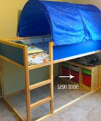 ikea loft bed with tent trofast storage bins are great for legos