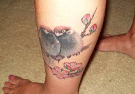 Little Birds On Leg