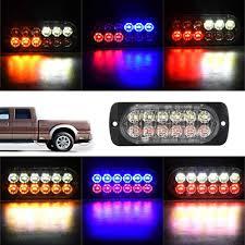 100 Interior Truck Lighting 1pc 12 24V Side Strobe Marker Lights Car 6 LED Amber