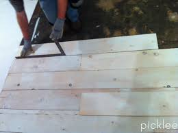 Farmhouse Wide Plank Floor Made From Plywood DIY