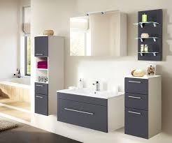 badezimmer hochschrank hängend viva in anthrazit seidenglanz badschrank 35 x 135 cm badmöbel hängeschrank