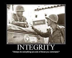 General George Patton Leadership Integrity Quote Motivational Poster