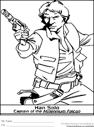 Star Wars Coloring Pages Han Solo