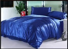 Royal Blue silk bedding set sheets satin queen full twin quilt