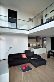 kubus mit galerie minimalistisch wohnbereich hannover