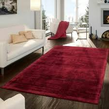 wohnzimmer teppich kurzflor handgearbeitet aus viskose