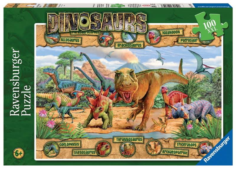 Ravensburger Puzzle - Dinosaurs, XX Large, 100 Pieces