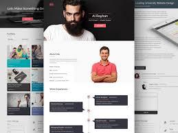 Sample Personal Website Templates Free Download Resume Websites Ozilalmanoofco