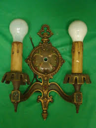antique nouveau deco wall electric candle wall light