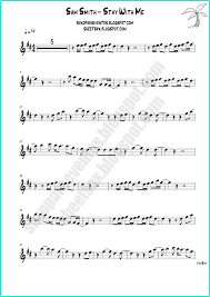 Stay With Me by Sam Smith Free sheet music and playalong