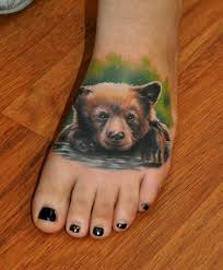 Ladies Angel Picture Bear Cub Tattoo Images