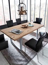 sit esstisch tops tables mit tischplatte aus wildeiche mit baumkante wie gewachsen shabby chic vintage