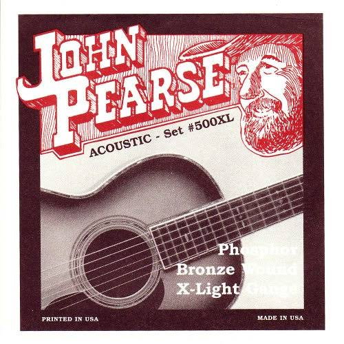 John Pearse P500XL Bronze Acoustic Guitar Strings - X-Light