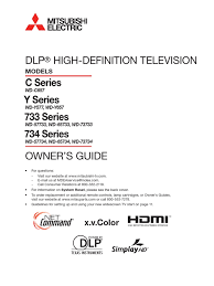 Wd 65733 Lamp Replacement Instructions by Document Hdmi High Definition Television