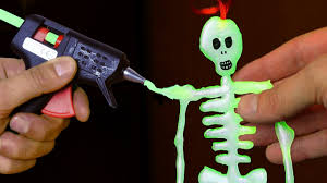 Glow In The Dark Plastic Pumpkins by Diy Glow In The Dark Skeleton Youtube