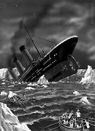 Titanic Sinking Simulation Real Time by A Painting Of People Jumping Off The Sinking Titanic Via Http