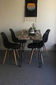 I Have 6 Gently Used Black Eiffle Chairs Purchased From Wayfair Some A Few Small Scuffs On Them But In Otherwise Great Condition