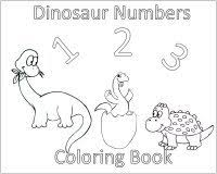 Toddler Activities 10 Dinosaurs Coloring Page Cover