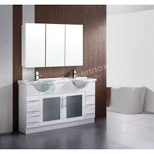Mereway Oakland Wall Hung Double Basin Bathroom Vanity Unit