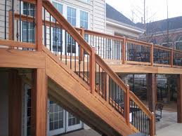 Horizontal Deck Railing Ideas by Deck Railing Spindles Tigerwood Deck And Rails With Basket