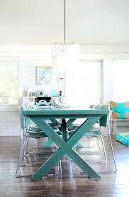 Blue Dining Room Table Maria Beach House Style Grey