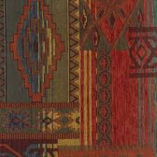 Southwest Upholstery Fabric Western Lodge Sedona Sunset Rustic Chenille
