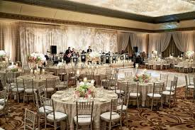 Wedding Reception With Silver Chiavari Chairs White Pink And Green Centerpieces Band