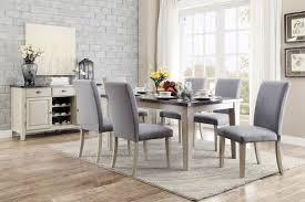 Bluestone Dining Room by Homelegance Mendel Dining Set Bluestone Marble Top Grey D5280