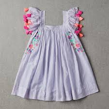 New Fashion Kids Boutique Flutter Sleeveless Pearl Dress Clothing Outfits Children Girls Fringe Summer Floral Blouses