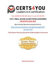 Pass GENESYS GE0-807 Exam In Just 24 HOURS! 100% REAL EXAM ... Troubleshooting Voip Problems With Wireshark Doesnt Work The Interactive Connect Philosophy We Create Partnerships Not Ocs Option Descriptions Auctus Profile Call Centre Voice Response Hammer Testing Genesys And Nice Youtube Monitoring Sip Protocol Dotcommonitor Telecom Equipments Accsories Avi Jdsu Acterna Free Snom Flexor Cti For Outlook Application Offers Advanced Smartaction Artificial Intelligence Ivr Contact Center Services Read Me Documentation Pass Genesys Ge0807 Exam In Just 24 Hours 100 Real Exam