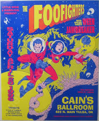 Foo Fighters 1996 Concert Poster Cains Ballroom Tulsa Oklahoma 18 Years Old