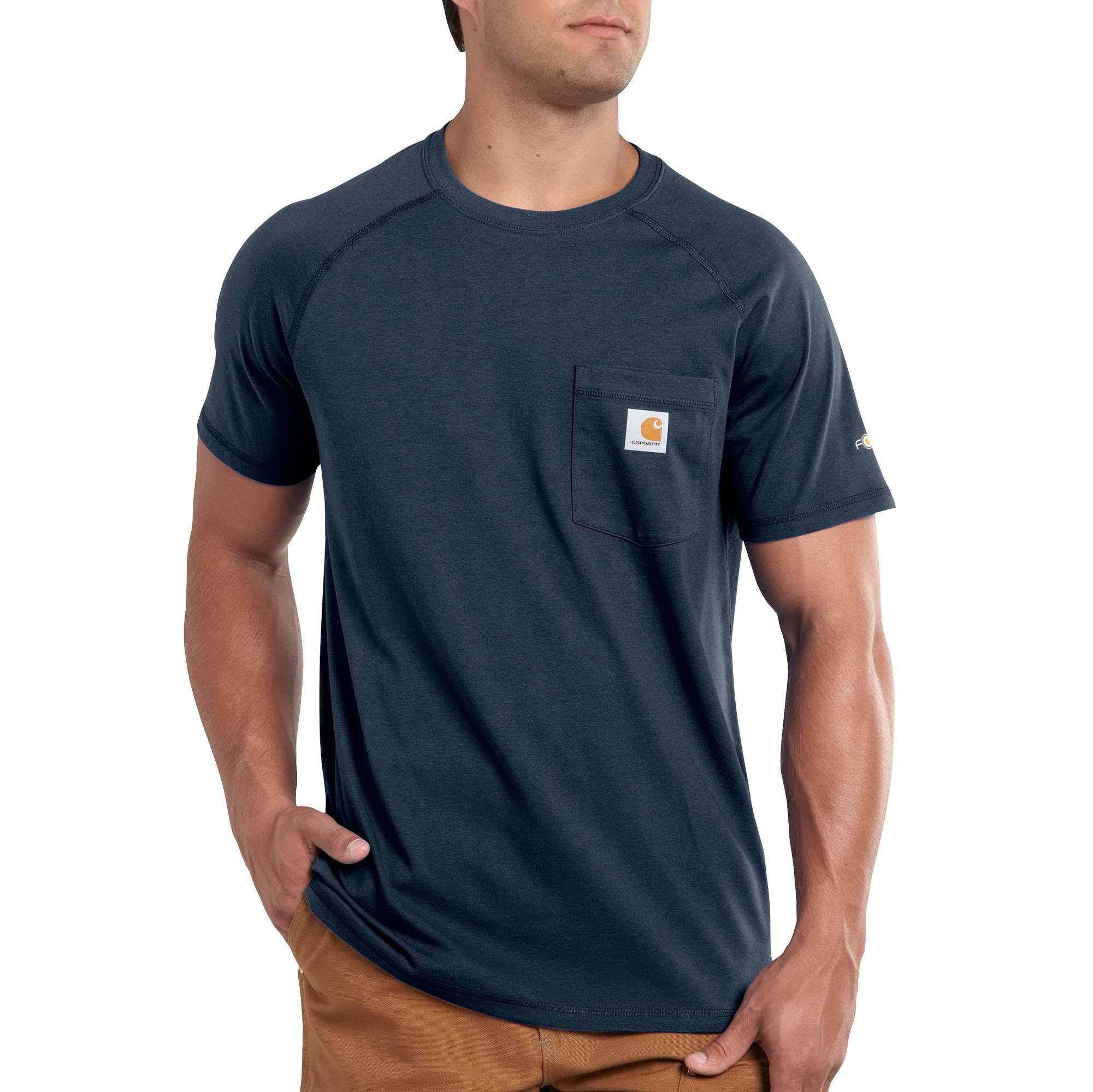 Carhartt Mens Force Cotton T Shirt - Navy, Large