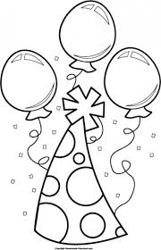 """Download free """"Birthday hat clipart black and white 7"""" png photo images and pictures graphics for You"""