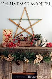 Loving These Rustic Christmas Mantel Decorating Ideas Mason Jars Burlap And Barnwood