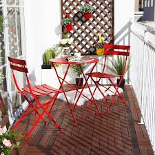 Red Patio Furniture Pinterest by Amazon Com Grand Patio Outdoor Balcony Folding Steel Bistro