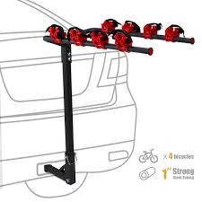 XtremepowerUS 4 Bike Rack Auto Car Truck Trailer 1-1/4 & 2