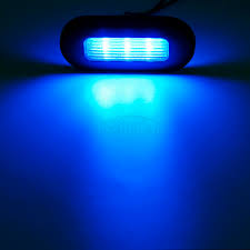 100 Blue Oval Truck Parts 2x 3Boat Cockpit Interior Step Marine Led Courtesy