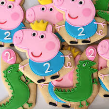 Peppa Pig With Stars Pumpkin Stencil by Oh Sugar Events Peppa Pig Cookies