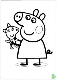 Free Coloring Pages Of Peppa Pig Gee