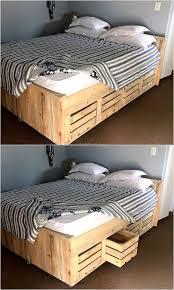 Pallet Bed Frame by Best 25 Pallet Bed Frames Ideas Only On Pinterest Diy Pallet