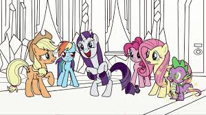 My Little Pony Colorear A Rainbow Dash Rarity Pinkie Pie Apple