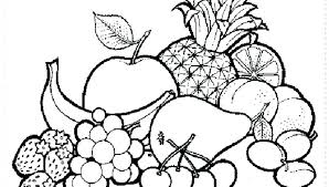 Summer Fruit Coloring Pages Fruits Printable And Vegetables Of Free