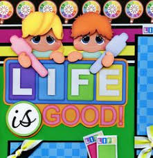 LIFE IS GOOD The Game Of Life 2 Premade Scrapbook Pages Paper Piecing CHERRY