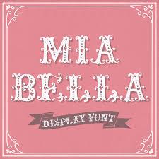 Romantic Font Mia Bella Hand Drawn Display
